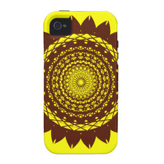Abstract Sunflower Vector Design (yellow / brown) iPhone 4/4S Cases