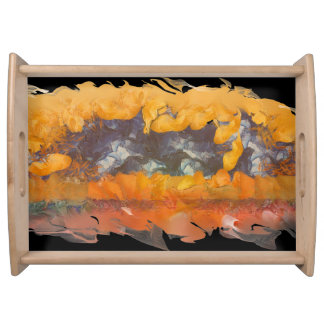 Abstract Sunset 0612 Serving Tray, 2 Sizes/Colors Serving Tray
