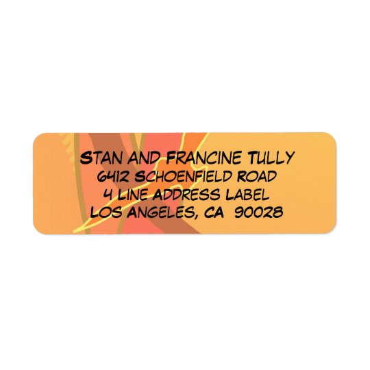 Abstract Sunset Colours Return Address Label