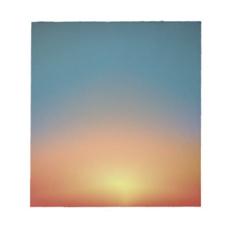 Abstract Sunset Notepad