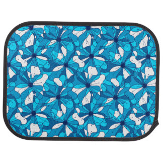 Abstract surf hibiscus car mat