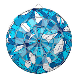 Abstract surf hibiscus dartboard