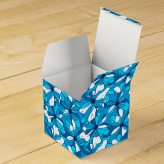 Abstract surf hibiscus favour box