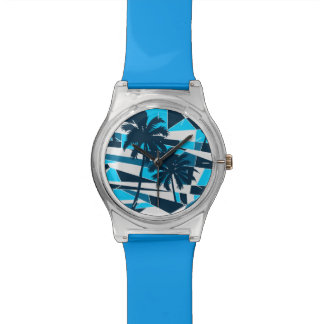 Abstract surf palm trees watch