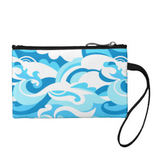 Abstract surf waves coin purse