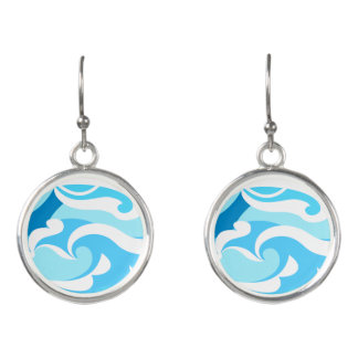 Abstract surf waves earrings