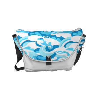 Abstract surf waves messenger bags
