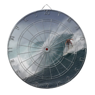 Abstract surfing sea wave dartboard