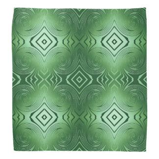 abstract swirl green pattern bandana