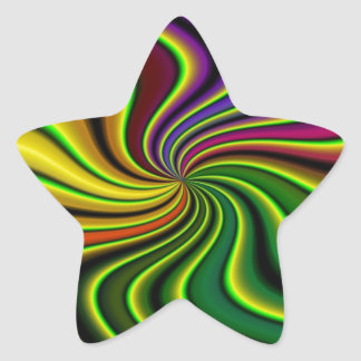 abstract swirl stickers