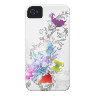 Abstract Swirls and Butterflies iPhone 4 Case-Mate Case