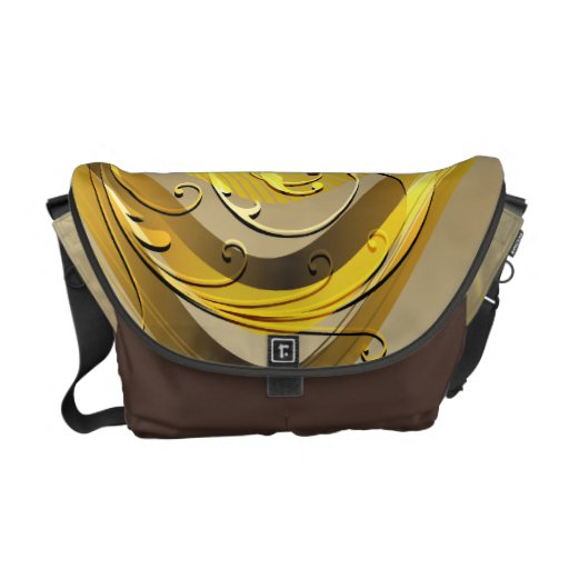 Abstract Swirls and Scrolls Grid Vector Graphic Commuter Bag