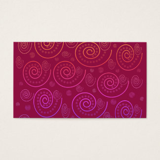 Abstract Swirls Business Card