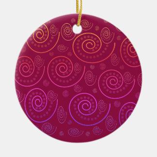 Abstract Swirls Ceramic Ornament