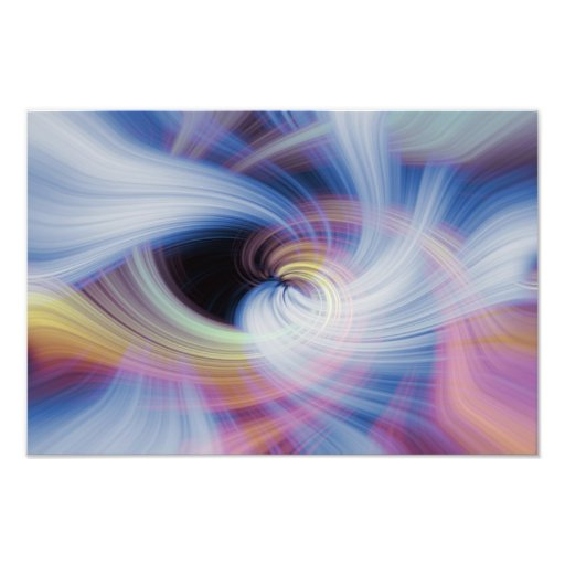Abstract Swirls in Pink, Blue, and Orange Photographic Print