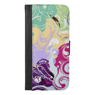Abstract Swirls iPhone Wallet Case