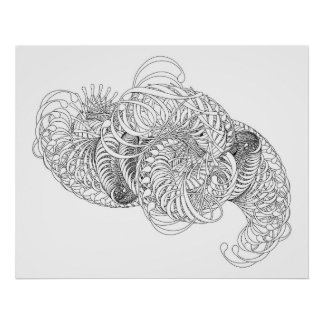 abstract swirls poster