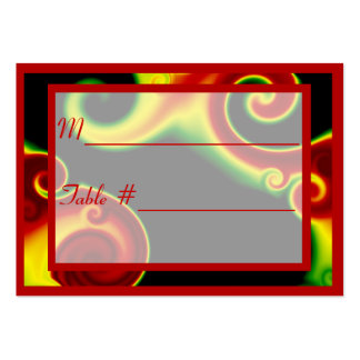 Abstract Swirls Table Number Place Cards Business Card