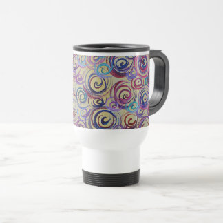 Abstract Swirls Travel Mug
