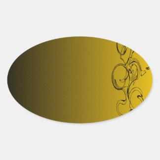Abstract Swirly Oval Sticker