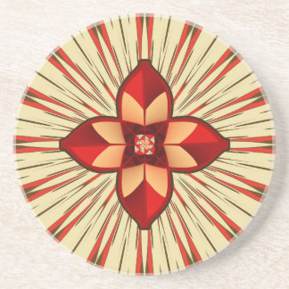Abstract symbolism coaster