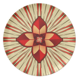 Abstract symbolism plate