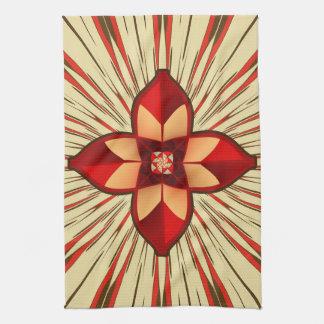 Abstract symbolism tea towel
