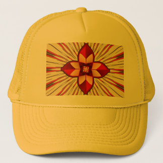Abstract symbolism trucker hat