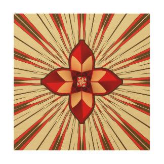 Abstract symbolism wood print