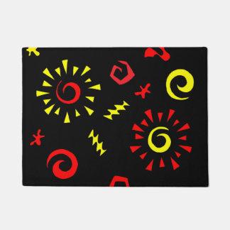 Abstract Symbols Art Door Mat