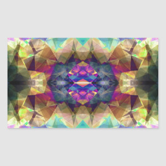 Abstract Symmetrical Coloration Rectangular Sticker