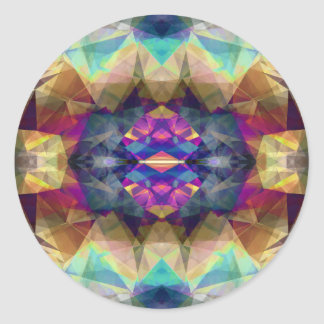 Abstract Symmetrical Coloration Round Sticker