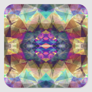 Abstract Symmetrical Coloration Square Sticker