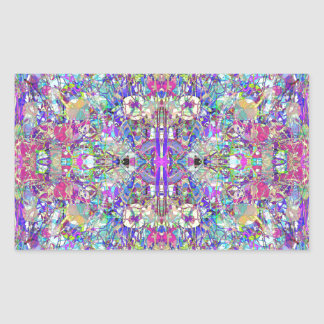 Abstract Symmetrical Colors Rectangular Sticker