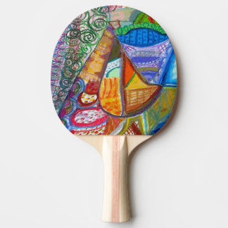Abstract Table Tennis Paddle