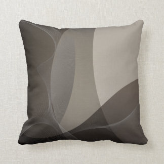 Abstract Taupe Pattern Cushion