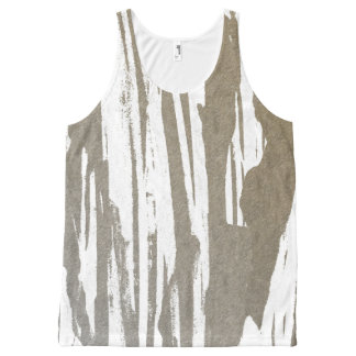 Abstract Taupe Splash Design All-Over Print Singlet