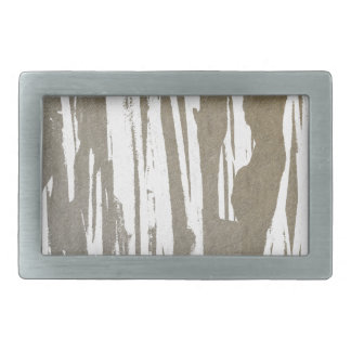 Abstract Taupe Splash Design Belt Buckle