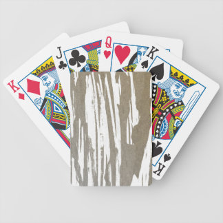 Abstract Taupe Splash Design Bicycle Playing Cards