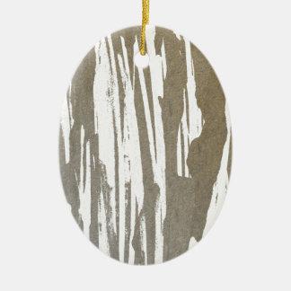 Abstract Taupe Splash Design Ceramic Ornament