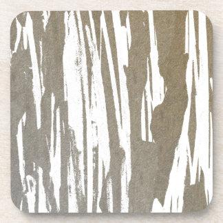 Abstract Taupe Splash Design Coaster