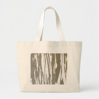 Abstract Taupe Splash Design Large Tote Bag
