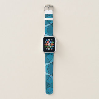 Abstract Teal Geometric Shapes Apple Watch Band