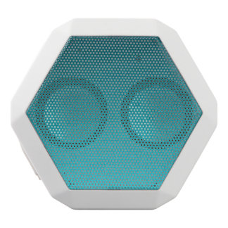 Abstract Teal Gradient Pattern White Boombot Rex Bluetooth Speaker