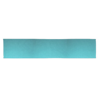 Abstract Teal Gradient Pattern Short Table Runner