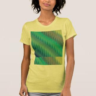Abstract Teal Green Ikat Chevron Zigzag Tee Shirts