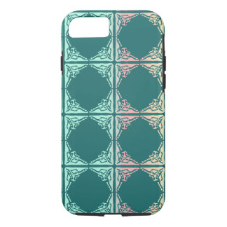 Abstract teal tile texture iPhone 7 case