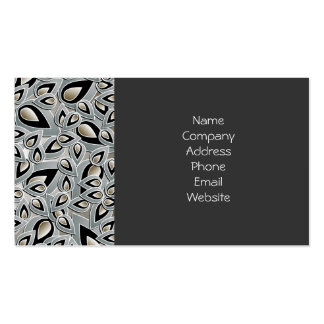 Abstract Teardrop Leaf Business Card