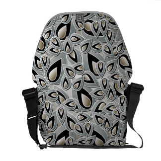 Abstract Teardrop Leaf Messenger Bag