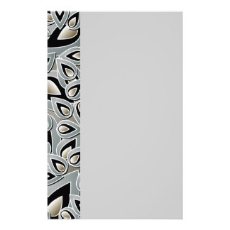 Abstract Teardrop Leaf Stationery